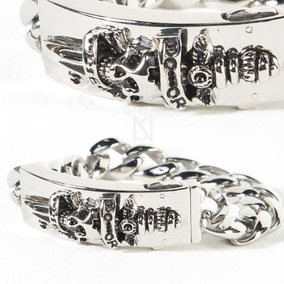 Sword skull metal chain bracelet