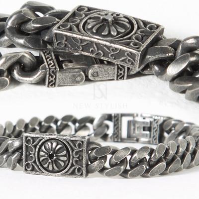 Distressed vintage heraldry symbol bracelet