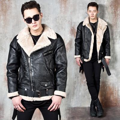 Soft fur lined vegetable leather jacket