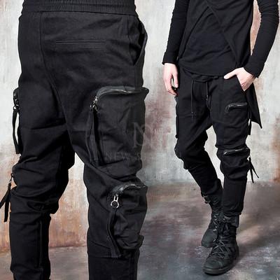 Multiple zippered square pocket pants