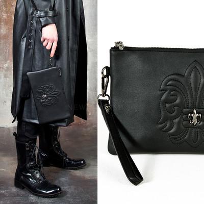 Embossed Heraldry symbol clutch bag