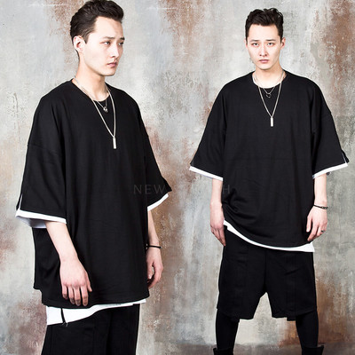 Double layered sleeve t-shirts