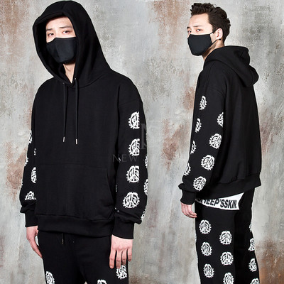 Multiple painted peace mark hoodie