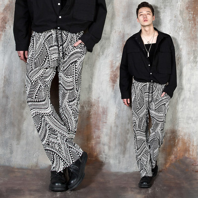 Ethnic patterned banded pants