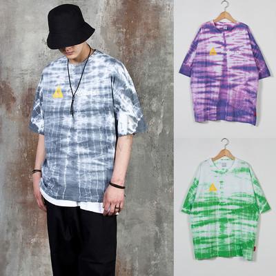 Tie-dye crack t-shirts