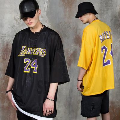 Oversized lettering mesh t-shirts