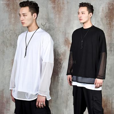Mesh contrast t-shirts