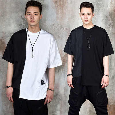 Unbalanced contrast t-shirts