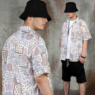 Ethnic patterned short sleeve shirts