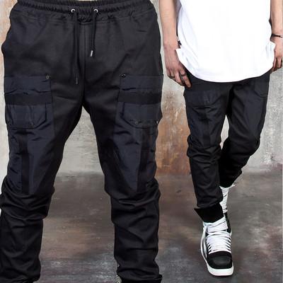 Long strap pocket accent banded pants